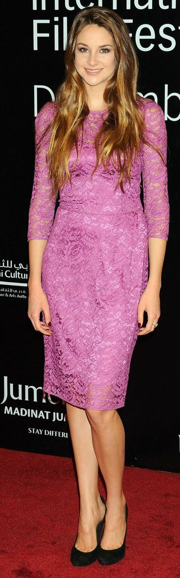 Shailene Woodley in Dolce & Gabbana at the 2011 Dubai Film Festival 'The Descendants' Premiere, December 2011