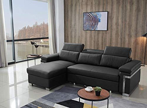 Amazing offer on FUNRELAX Black Corner Sectional Sofas Set ...