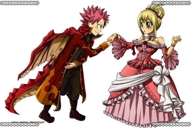 Fire dragon prince natsu dragneel and princess lucy heartfilia fairy tail pinterest - Fairy tail lucy et natsu ...