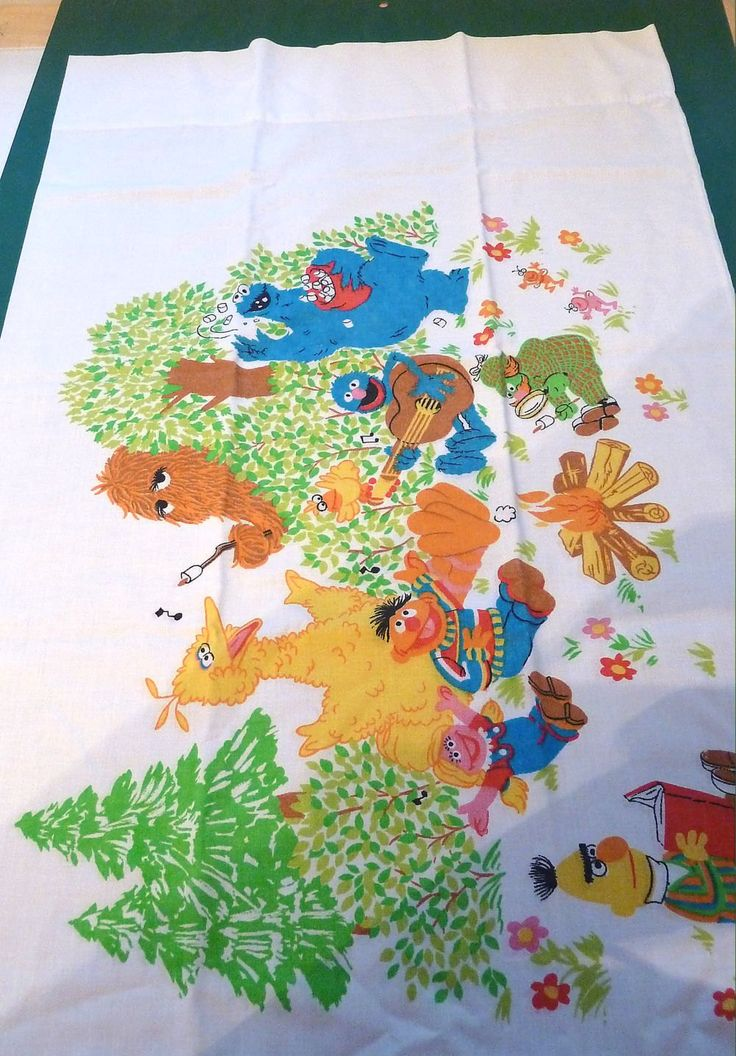 Sesame Street Vintage Pillow Case by SouthamptonCreations on Etsy