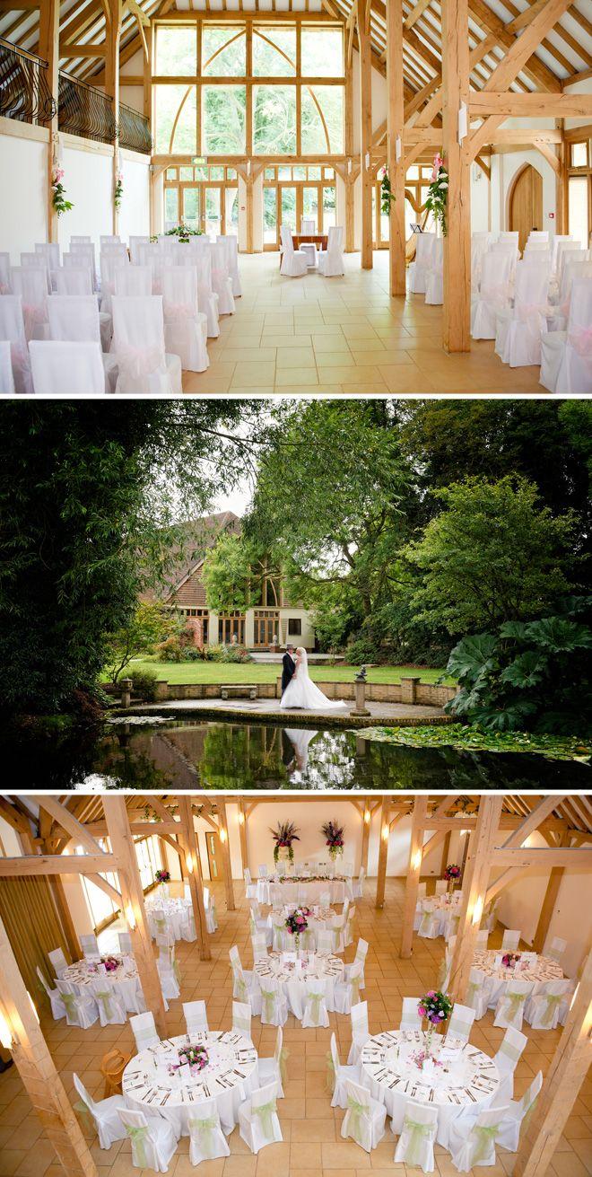 Rivervale Barn wedding venue in Hampshire. I love this!