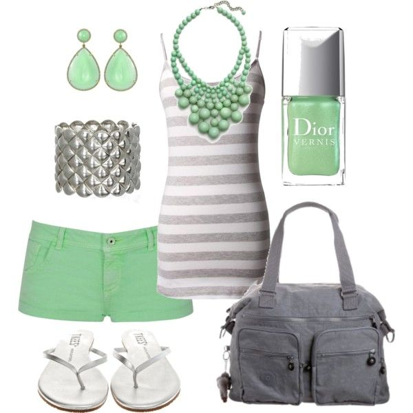 Summer Outfit: Mint Green, Green Color, Fashion, Style, Clothes, Spring Summer, Summer Outfits