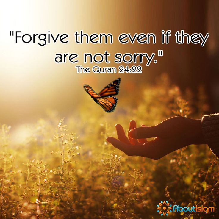 Forgive them, even if they are not sorry!