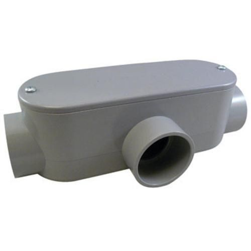 Cantex 5133566U PVC Conduit Body, Gray, 1-1/4""