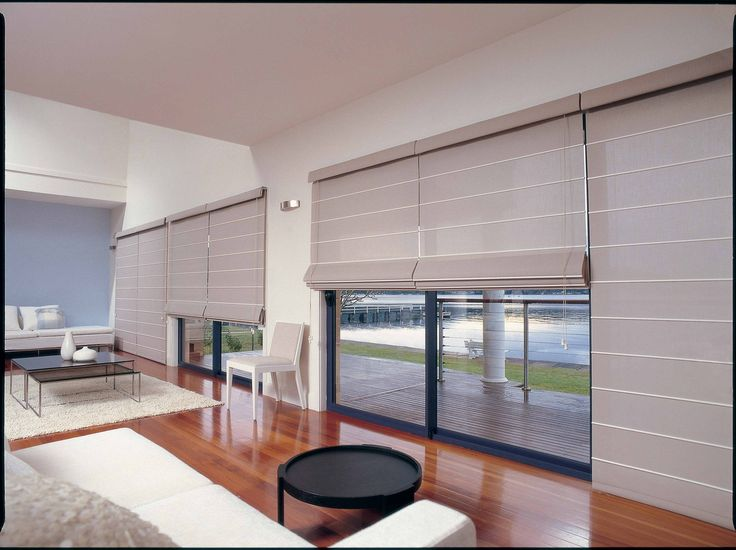 Luxaflex. Note top canopy. Roman Shades - Roman blinds with a contemporary look and feel.