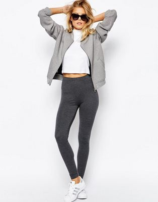 ASOS | ASOS High Waisted Leggings In Charcoal Marl (too much poly??)