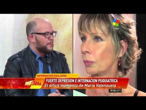 """El trance de María Valenzuela """"deprimida e internada en un neuropsiquiát..."""