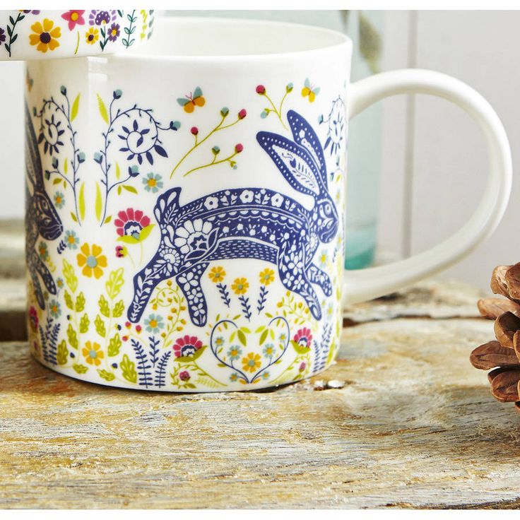 woodland hare straight sided mug by ulster weavers | notonthehighstreet.com