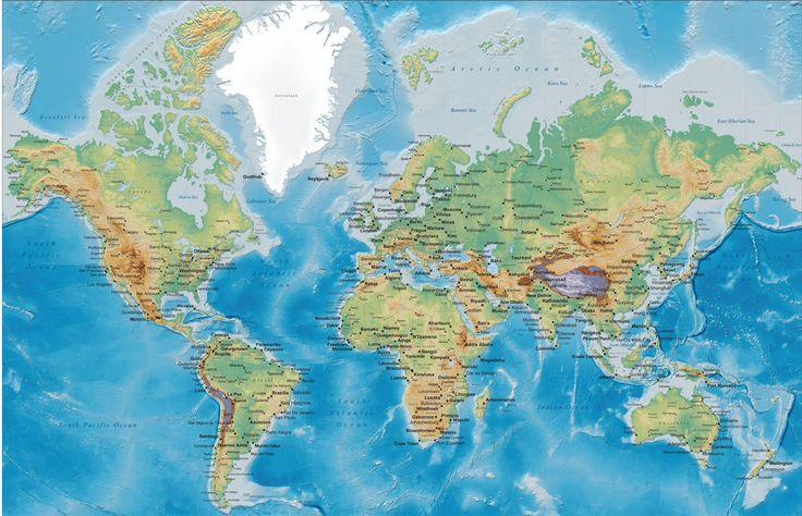 Mapa Mundi grande ou gigante
