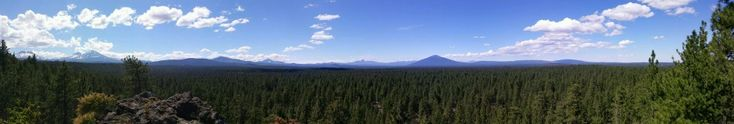 Peterson Ridge trail in Sisters, Oregon.  6 miles from FivePine Lodge. A great mountain biking trail.