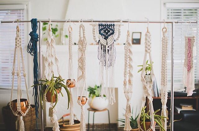 This was taken nearly a year ago and it's still one of my favorite photos of my work. There is something about a bunch of Macrame Plant Hangers grouped together. // 📷 : @wanderingwithmary from my first professional photo shoot.