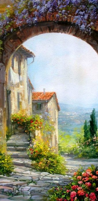 ✿Flowers at the window & door✿ Antonieta Varallo