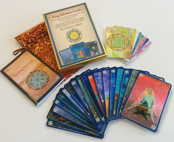 King Solomon Cards - The Collectors' Edition for guidance & divination - 36 oracle cards + bonus 9 Kabbalistic amulets - 15%discount cou