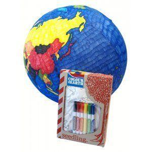 Colour the Earth Beach Ball - White Apple Gifts