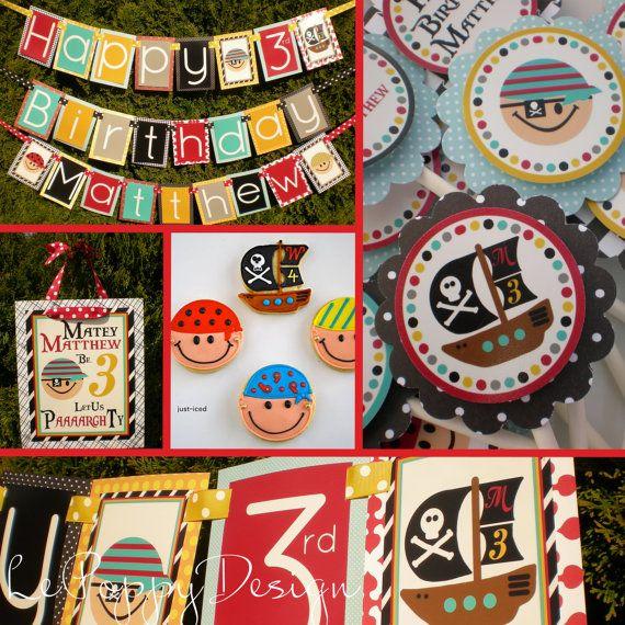 Pirate Theme: Pirate Party, Birthday Theme, Pirates Birthday, Pirates Parties, Birthday Parties Ideas, 1St Birthday, 3Rd Birthday, Pirates Theme, Parties Decor