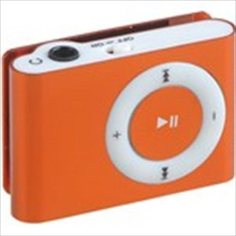 Rectangular Shaped Clip MP3 Music Player with Circle Operation Pad+ TF Slot - Orange