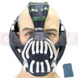 Batman Bane Mask with Voice Changer/Modulator Sliver version xcoser