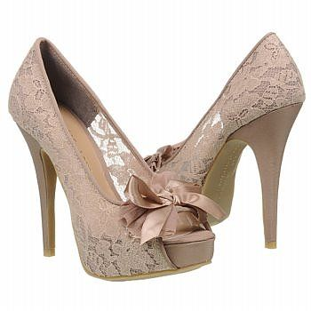 want: Fashion, Chinese Laundry, Style, Lace Heels, Lace Shoes, Bow, High Heels, Nude Lace