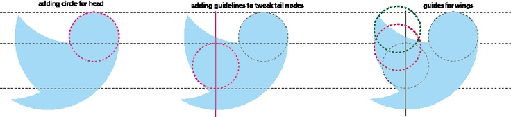 Reconstruct the Twitter Icon Using Circle Shapes  http://www.awwwards.com/reconstruct-the-twitter-icon-using-circle-shapes.html#
