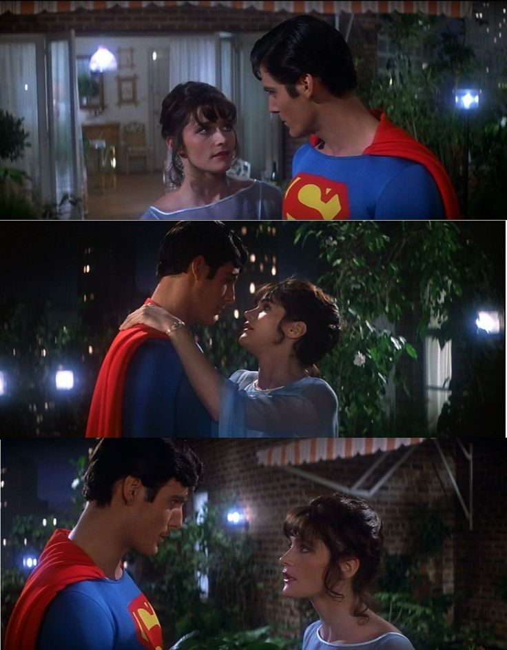 Lois and Superman in Superman The Movie 1978 Romance sparks in this first Superman film.