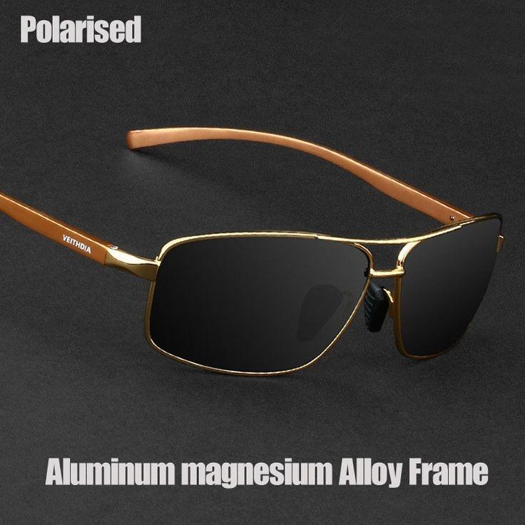 Men Polarised Sunglasses Aluminum magnesium Alloy Frame Driver Driving Glasses Fashion