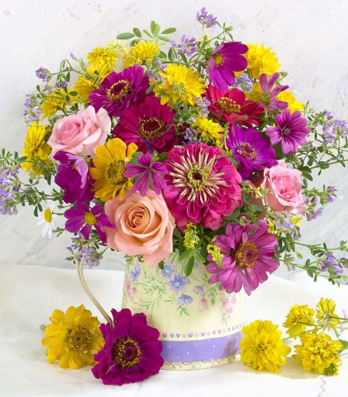 1582 best bouquets and arrangements images on pinterest floral marianna lokshina bouquetlmn39392 container flowerscut flowersbouquet flowerszinnia bouquetpretty flowersindoor mightylinksfo