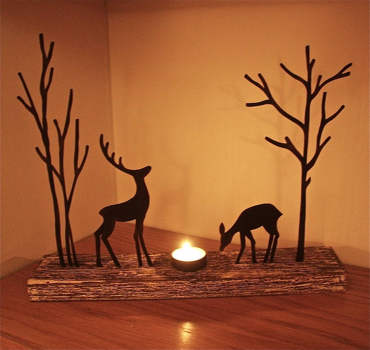 Reindeer candle