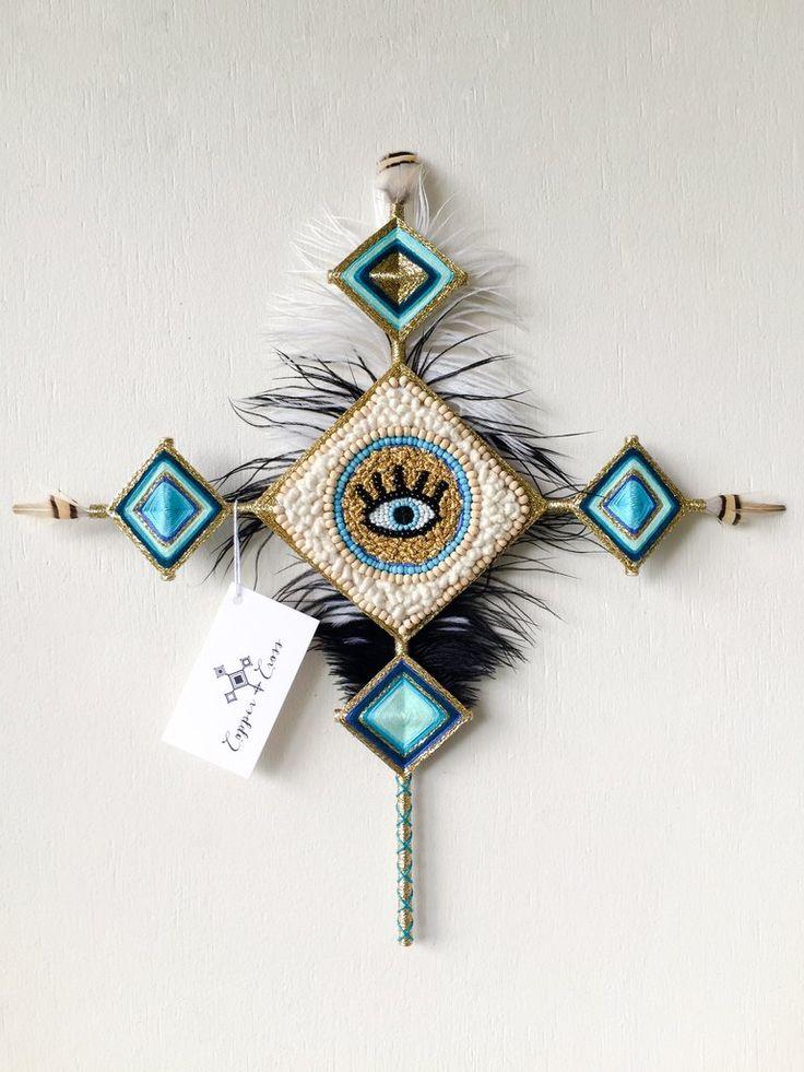 Ocean Eye Cross - Copper and Cross X Hello Tangle $249