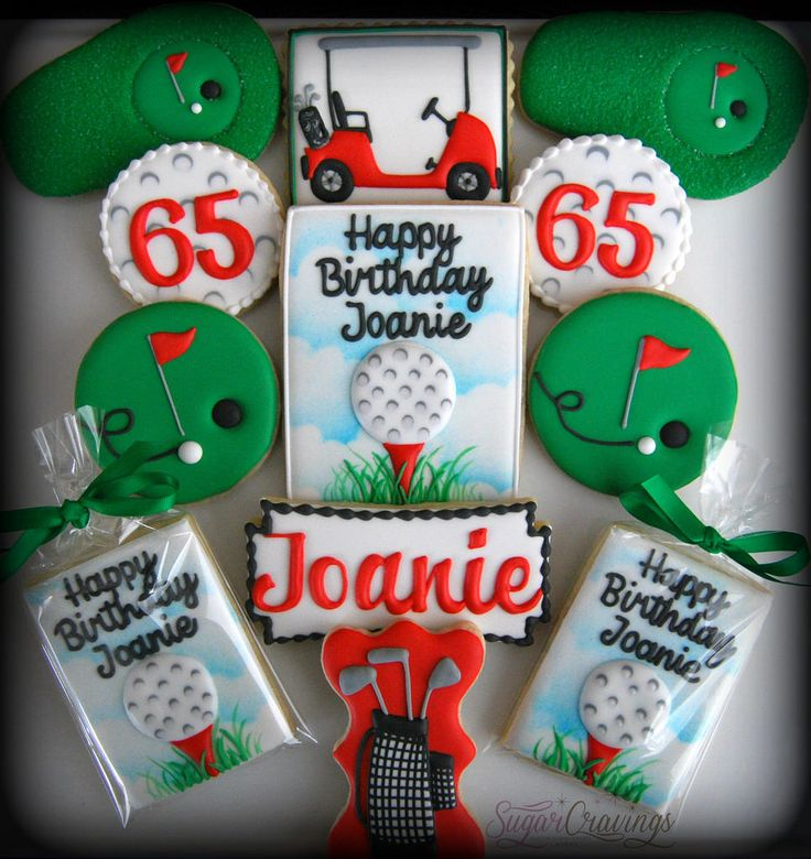 Golf cookies for Joanie's 65th birthday!