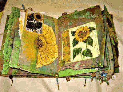 sunflower textile book