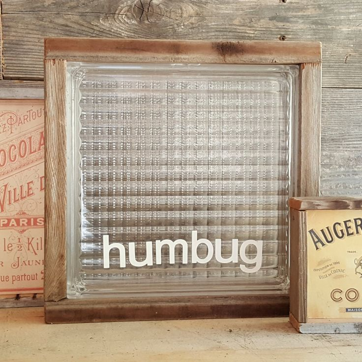 RUSTIC 'GLASS' BLOCK  |  Repurposed Slim Acrylic Block  |  Home Decor Industrial Christmas Art  |  Custom Designs Available by BumperCropMarketing on Etsy