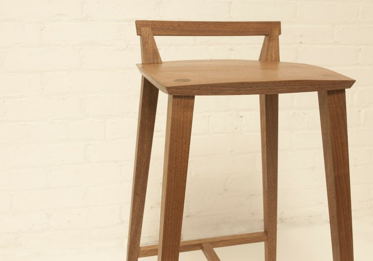 Stool One in Walnut by peter coolican