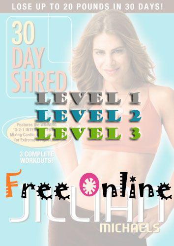 ..................videos Jillian Michaels 30 day shred ~ Free Online