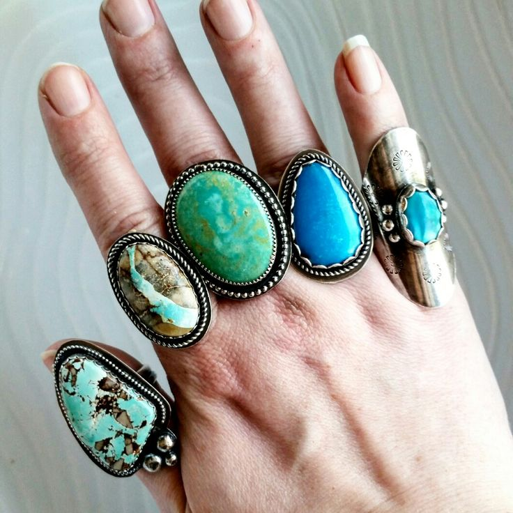 Turquoise Tuesday!   all pieces made by Wood Bison Metal