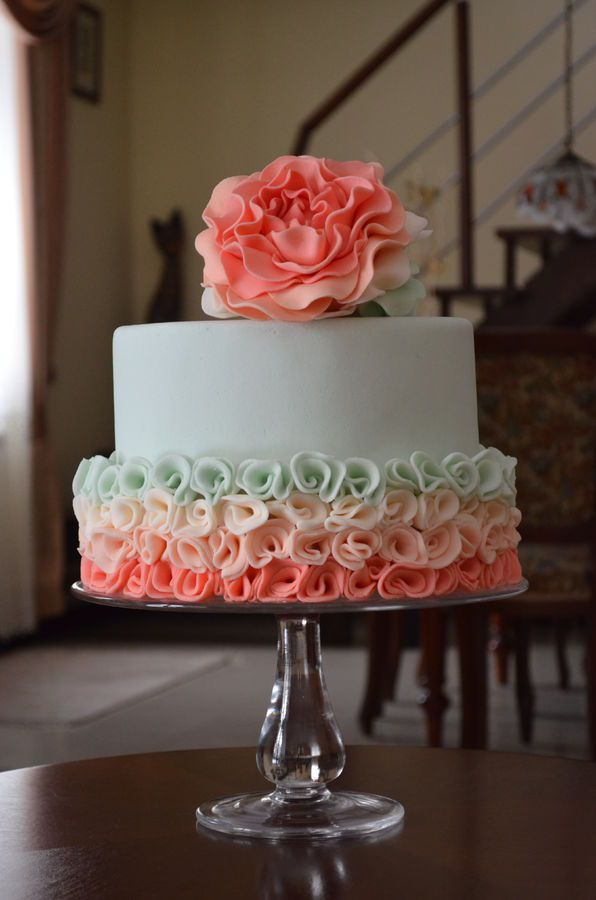 Cute, maybe make as a double barrell cake - Tasha  Peony rose — Birthday Cake