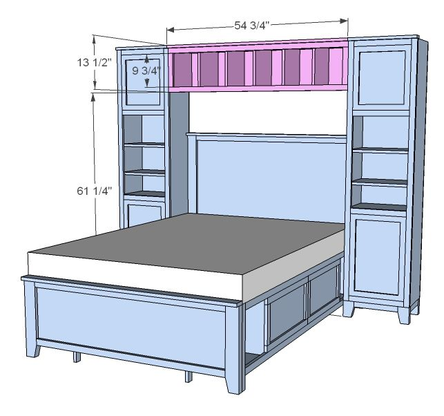 Free bed headboard plans woodworking projects plans 2 twin beds make a queen