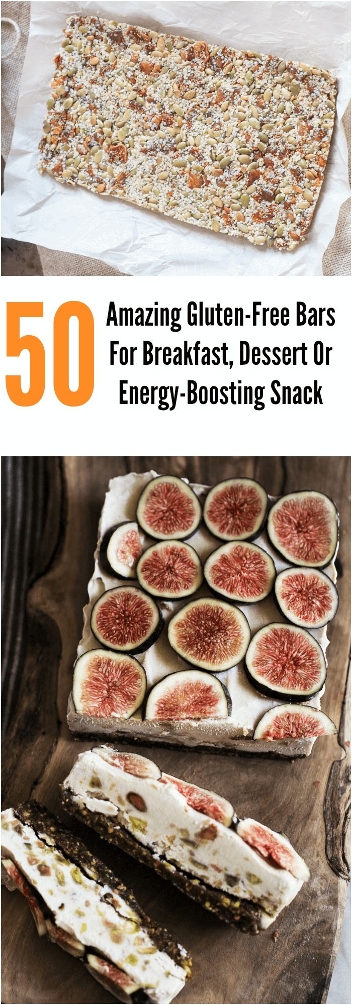 50 Amazing Gluten-Free Bars For Breakfast, Dessert Or Energy-Boosting Snack #glutenfree #breakfast #bars #desserts #recipes