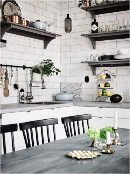 Awesome Scandinavian Kitchen Interior Idea 34