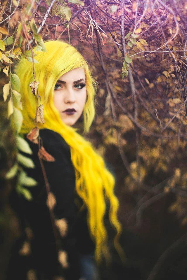 Yellow hair #bright #dyed: