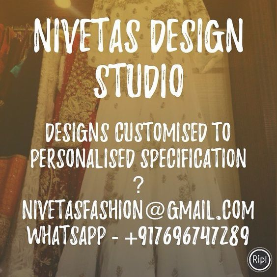 queries WhatsApp : +917696747289  nivetasfashion@gmail.com   Nivetas Design Studiio    Specialize In Custom Made Bridal and Indian Party Wear From INDIA  Superior High End Quality Work   WhatsApp : +917696747289  nivetasfashion@gmail.com   Deliver Internationally...   bridal lehenga - salwar suit - p]  Indian wedding Outfits - pajami suits - party wear suits