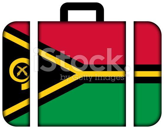 Suitcase with Vanuatu Flag royalty-free stock photo
