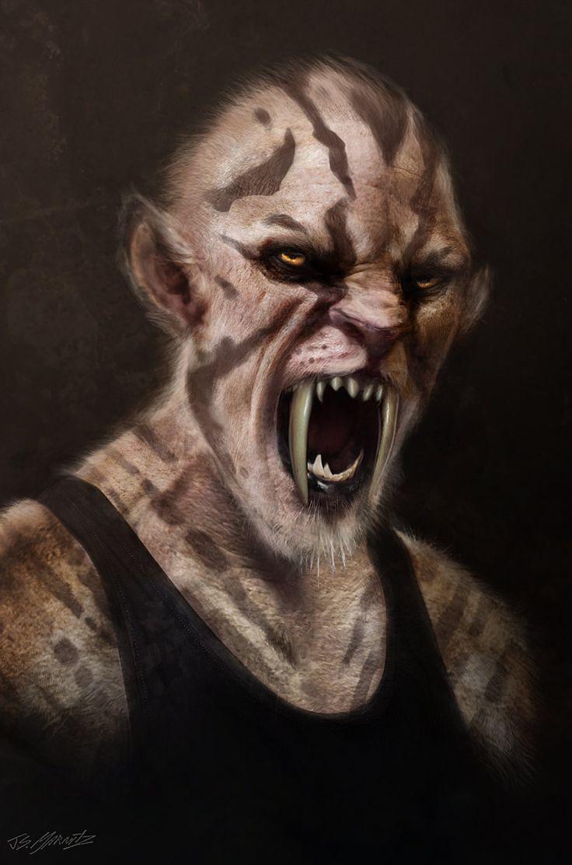 Grimm Season 2  Sabertooth Man, Jerad Marantz on ArtStation at https://www.artstation.com/artwork/w666