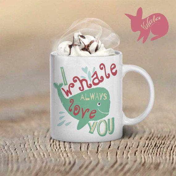 ❤ Je baleine toujours taime Mug❤ café ❤ Chaque tasse de café est imprimé de façon professionnelle avec un Design original de Yulala ❤ La conception est professionnellement imprimée des deux côtés de la tasse à café afin que chacun puisse voir votre Yulala unique conception tasse quelle que soit la main vous choisissez de le tenir en ! Tasses à café sont toujours un grand cadeau. Alors réservez-en un maintenant ! ❤ taille de tasse à café est de 11 onces. ❤ tasses à café sont en céramique. ...