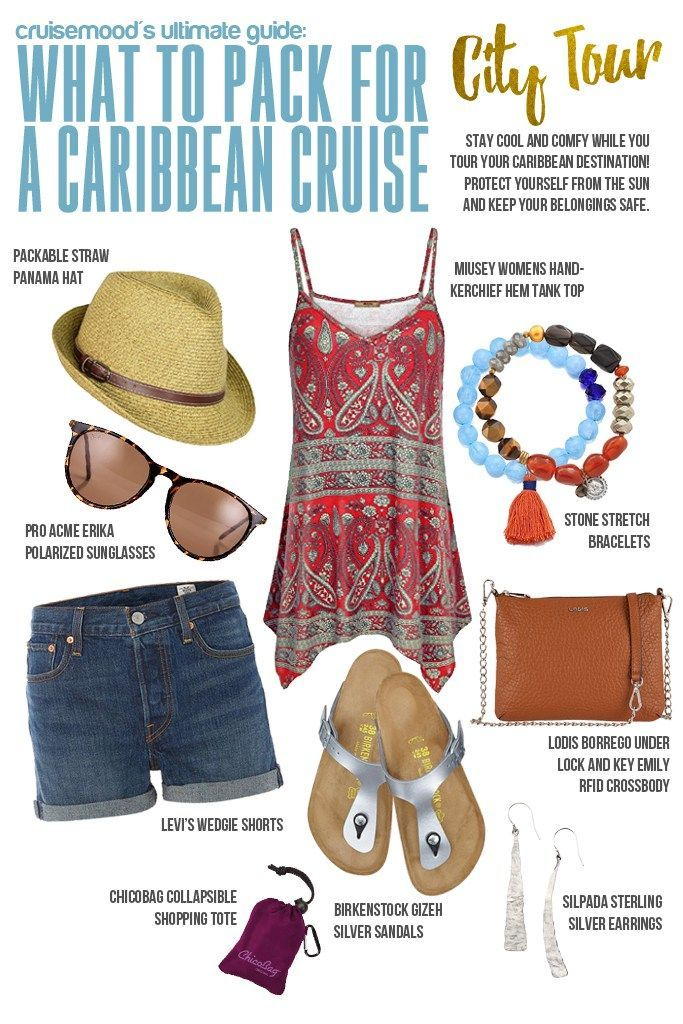 What to Pack for Your Caribbean Cruise: City Tour - Heading to the Caribbean on a cruise? Whether you are taking a city tour excursion or just walking around town, check out these tips for what to pack!