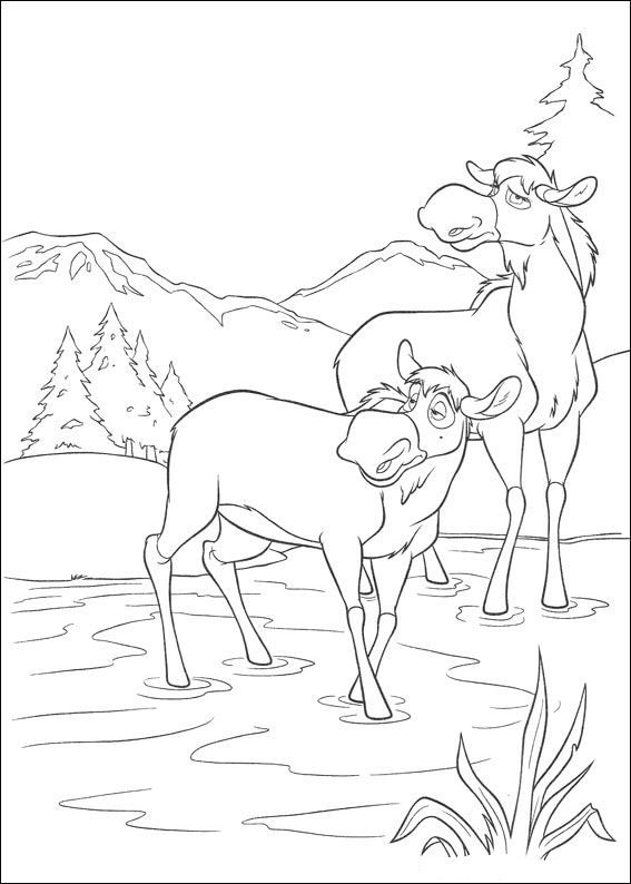 kleurplaat brother bear 2 brother bear 2 - Brother Bear Moose Coloring Pages