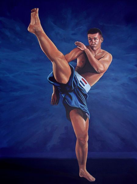 'Peter Aerts painting' by Paul Meijering on artflakes.com as poster or art print $20.79