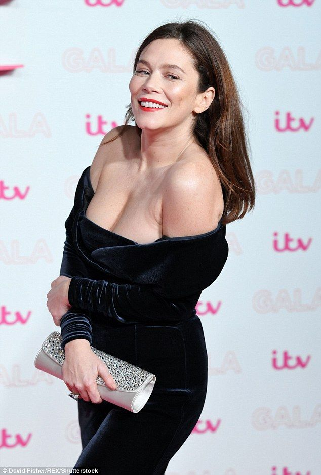 Busty babe: Anna Friel was the ultimate Bardot babe on Thursday night, as she upped the glamour for the ITV Gala in London
