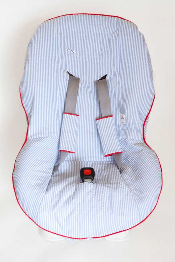 Custom Car Seat Cover and Matching Buckle Covers by MyLulaMae