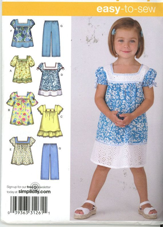 Simplicity 3511 toddler dress top and by HeavenztoBetsyDesign