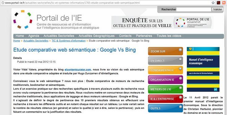 Web Portal Inteligencia Económica Francés - Artículo Comparativa Buscadores:  Internet Site,  Website, Web Site, Comparativa Buscador, Económica Francé